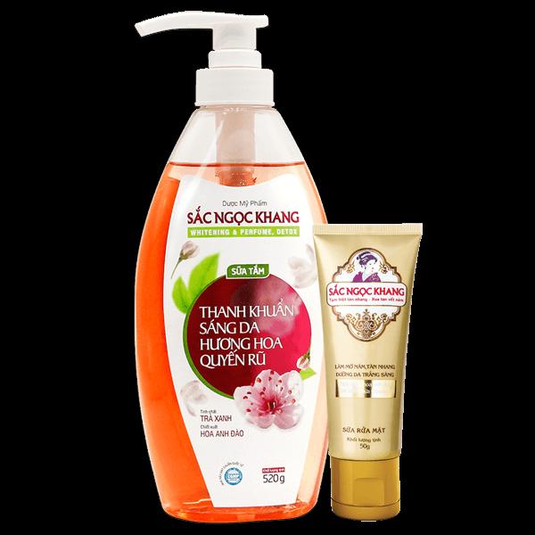Sữa tắm Whitening & Perfume, Detox Sắc Ngọc Khang 520g
