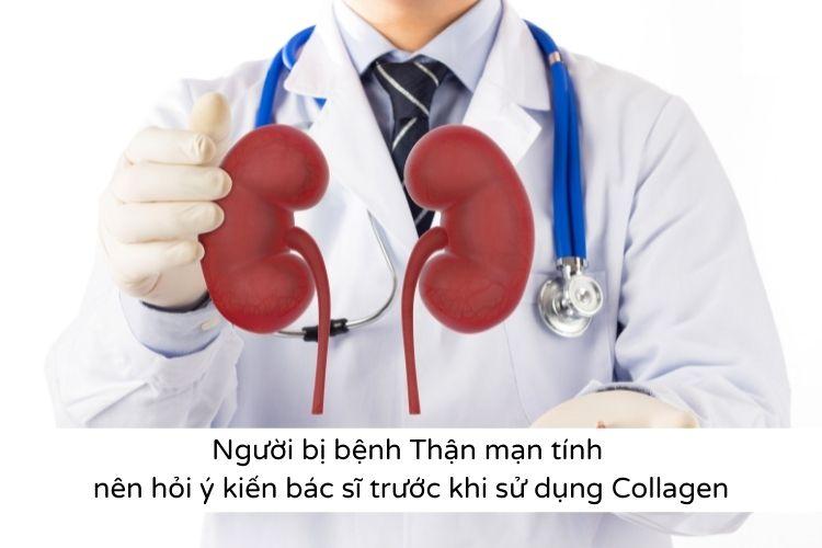 Những bệnh không nên uống collagen có bệnh thận mạn tính